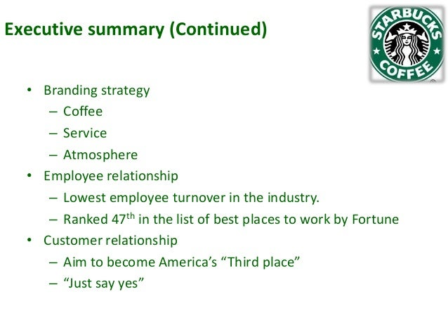 Research paper on starbucks strategy statement