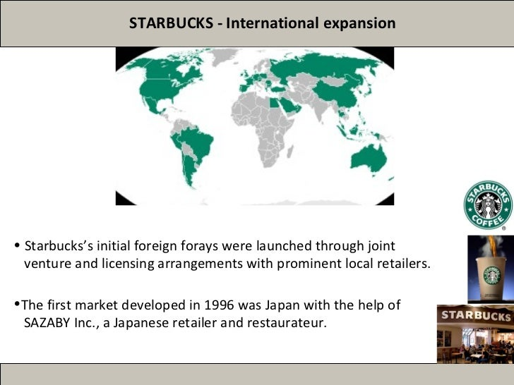the global expansion strategy of starbucks The external strategic factors in this part of the swot analysis show that starbucks can improve its industry position by developing its operations to exploit the opportunities in the global industry environment.