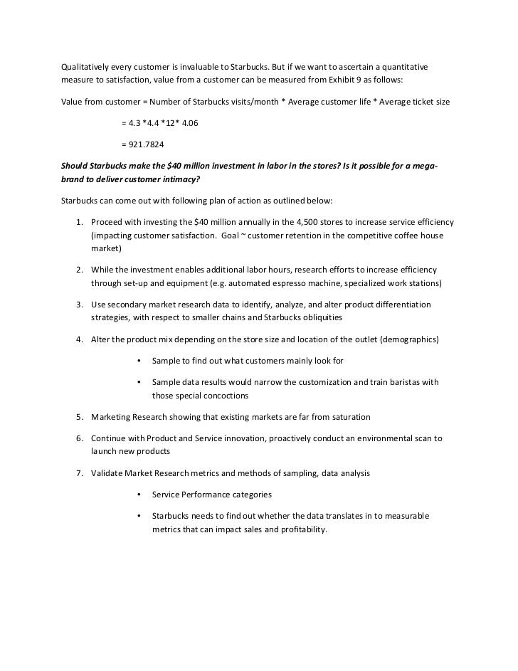 Starbucks Customer Service Case Analysis - Term Paper - 1502 Words