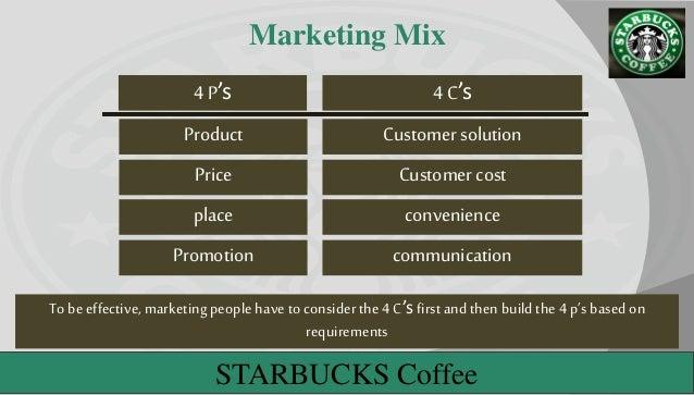 Starbucks Coffee's Marketing Mix (4Ps) Analysis