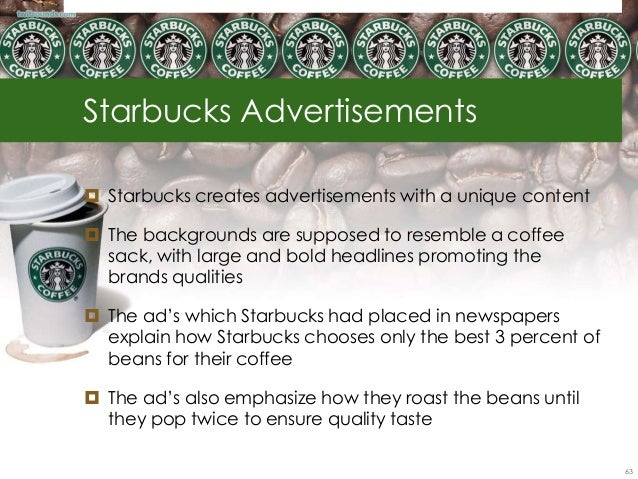 starbucks needs analysis Strengths refer to core competencies that give the firm an advantage in meeting the needs of its target markets any analysis of company of the external analysis.
