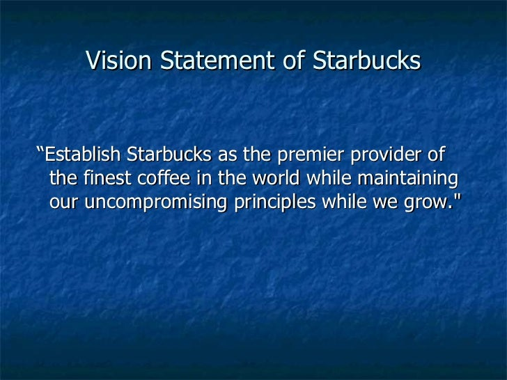 a good vision statement