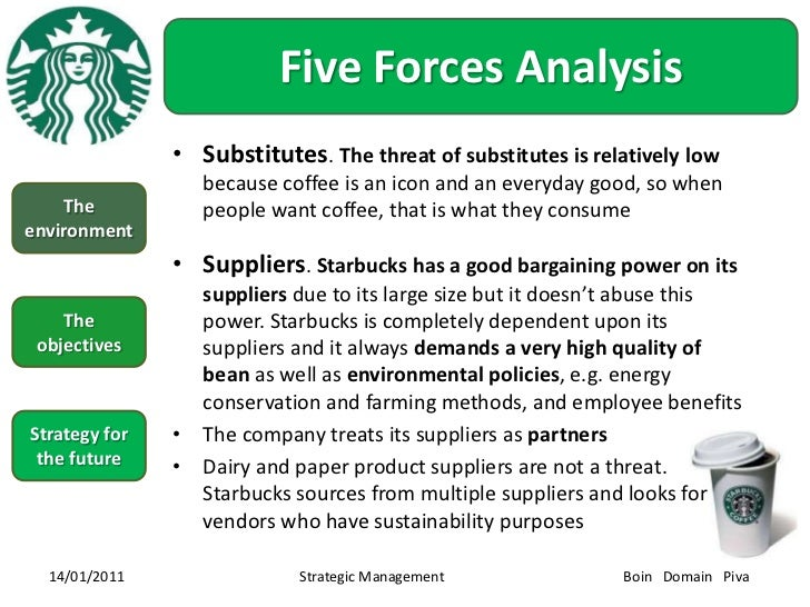starbucks strategic management Abstract this proposal is about starbucks starbucks is at maturity stage in product life cycle the revenue is keep increasing since 2009, and the revenue of 2011 is $117 billion.