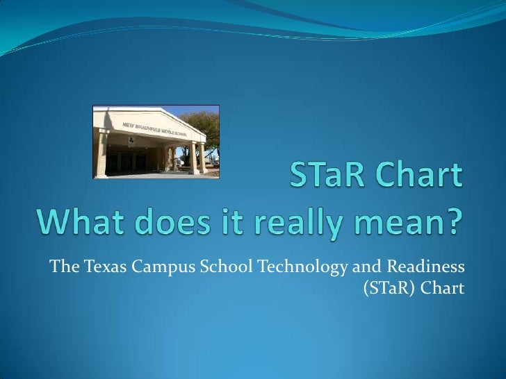 STaR ChartWhat does it really mean?<br />The Texas Campus School Technology and Readiness (STaR) Chart<br />