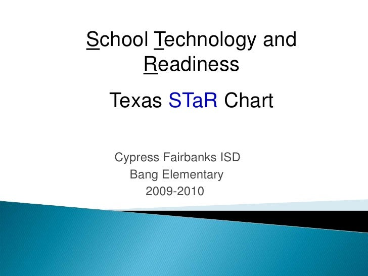 School Technology and Readiness<br />Texas STaR Chart<br />Cypress Fairbanks ISD <br />   Bang Elementary <br />  2009-201...