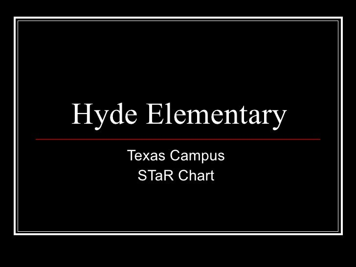 Hyde Elementary Texas Campus  STaR Chart