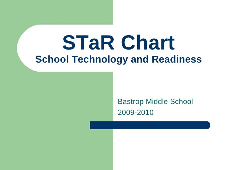 STaR Chart School Technology and Readiness Bastrop Middle School 2009-2010