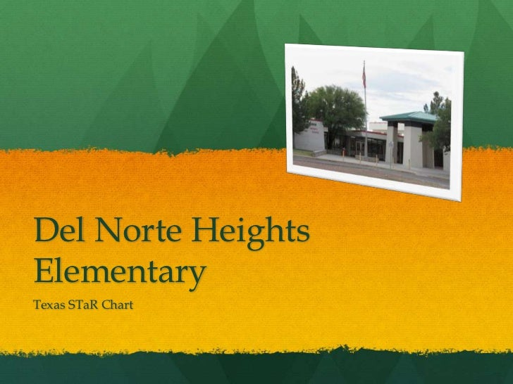 Del Norte Heights Elementary<br />Texas STaR Chart <br />