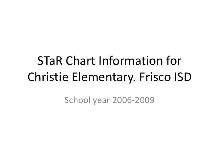STaR Chart Information for Christie Elementary. Frisco ISD <br />School year 2006-2009<br />