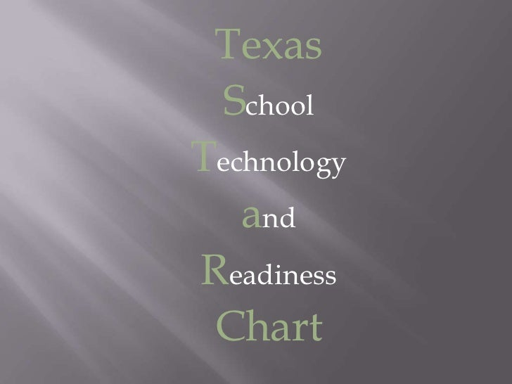 Texas<br />School<br />Technology<br />and<br />Readiness<br />Chart<br />