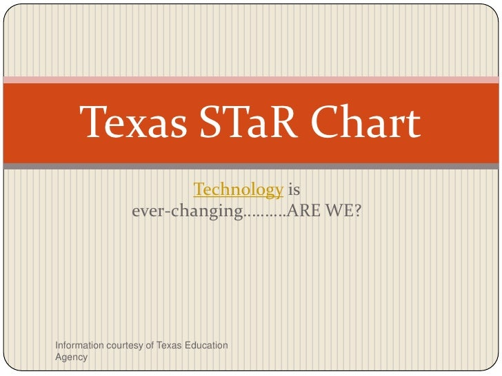 Technology is                                            ever-changing……….ARE WE?<br />Texas STaR Chart<br />Information c...