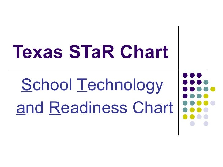 Texas STaR Chart S chool  T echnology  a nd  R eadiness Chart