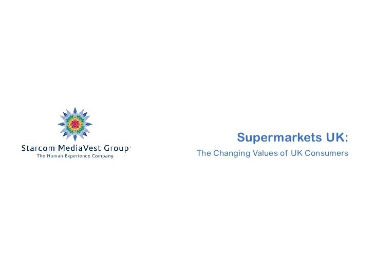 Supermarkets UK:The Changing Values of UK Consumers