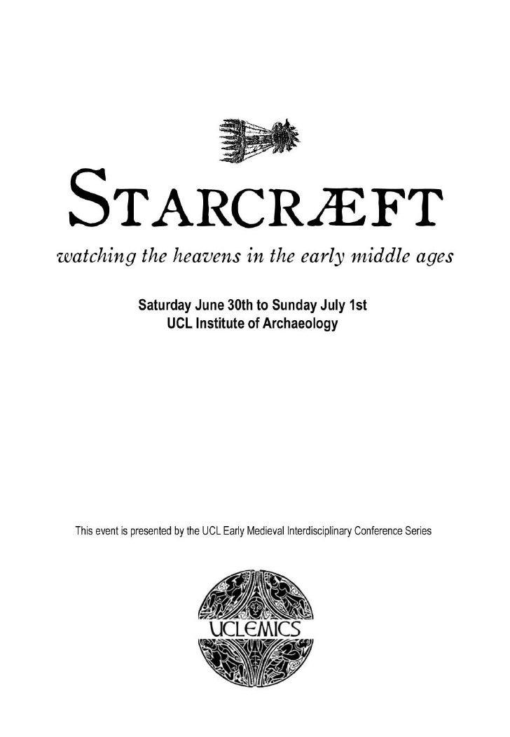 Starcraft conference programme