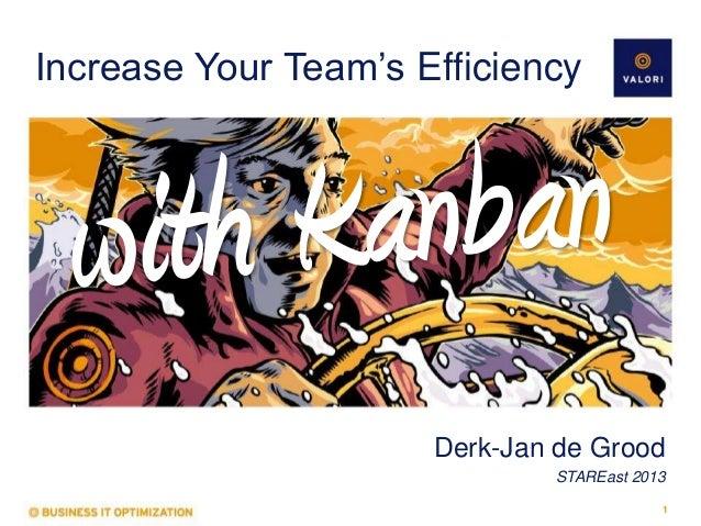 Increase Your Team's Efficiency  Derk-Jan de Grood STAREast 2013 1