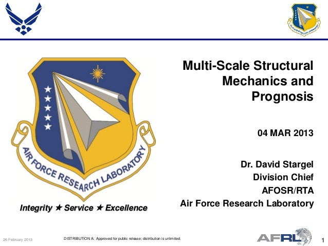 Stargel - Multi-Scale Structural Mechanics and Prognosis - Spring Review 2013