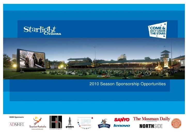 2010 Season Sponsorship Opportunities     2009 Sponsors