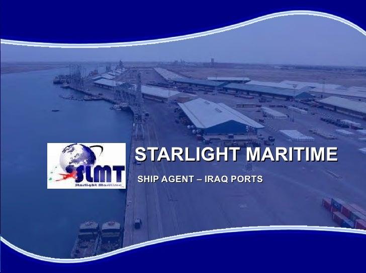 STARLIGHT MARITIME SHIP AGENT – IRAQ PORTS