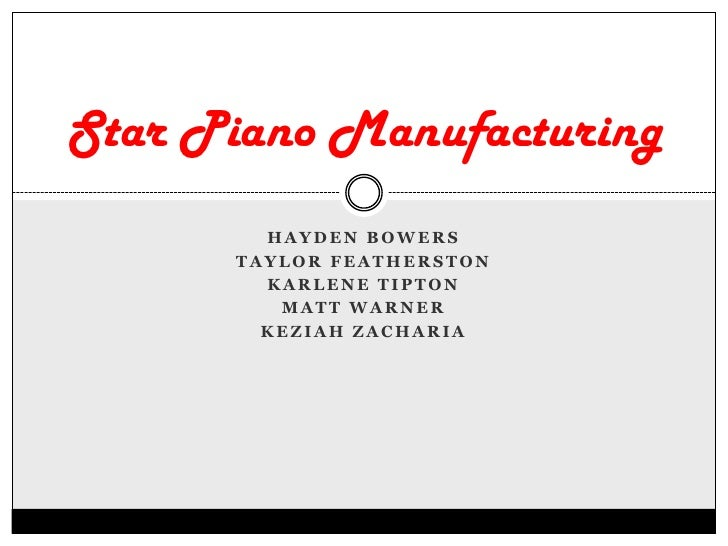 Star Piano Manufacturing