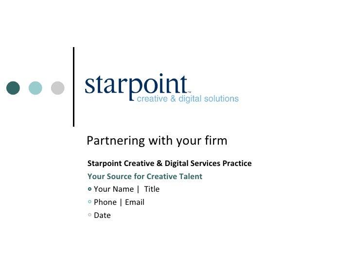 Starpoint Creative & Digital Presentation