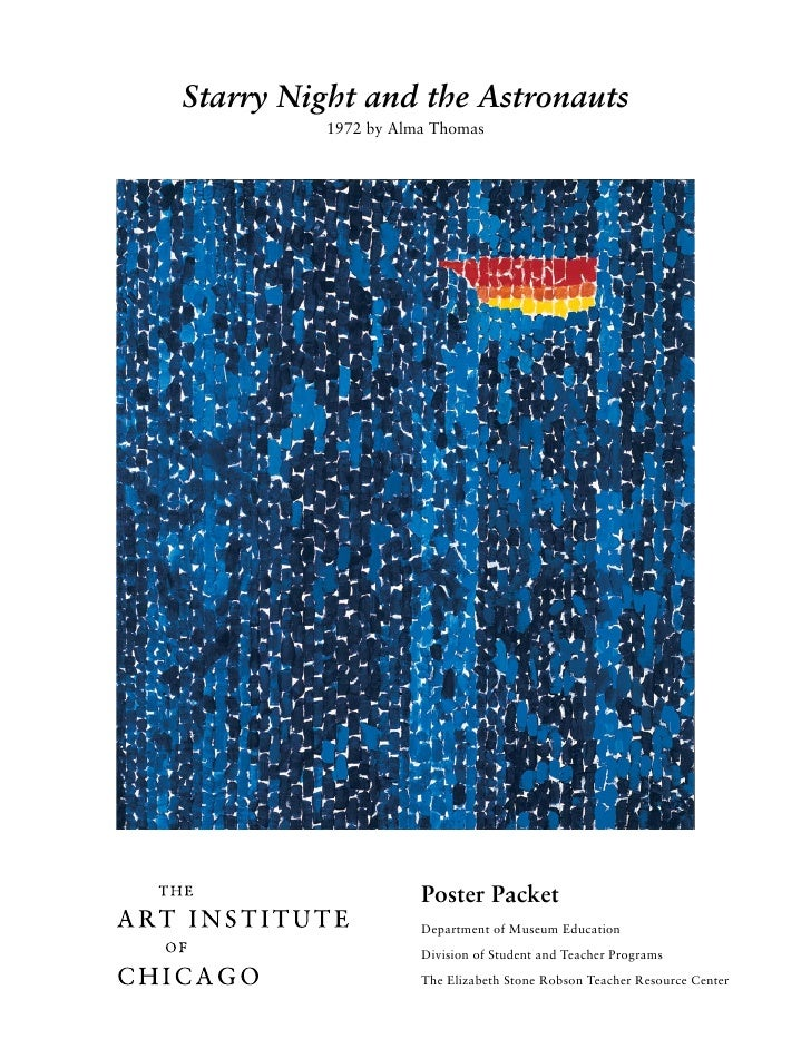 Starry Night and the Astronauts           1972 by Alma Thomas                          Poster Packet                      ...