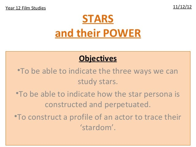 STARSand their POWERObjectives•To be able to indicate the three ways we canstudy stars.•To be able to indicate how the sta...