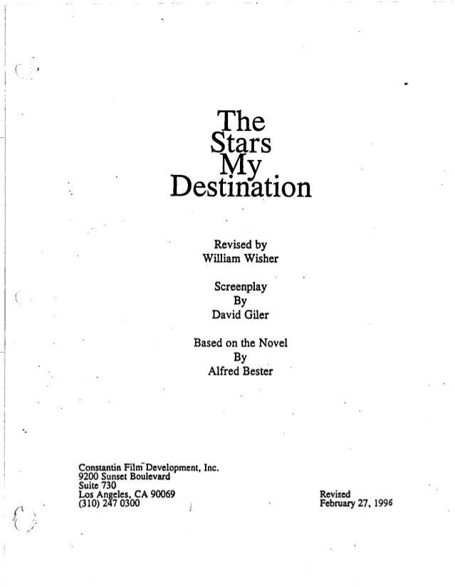 """The Stars My Destination"" screenplay"