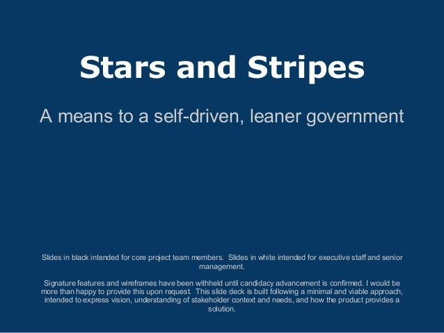 Stars & stripes slide deck