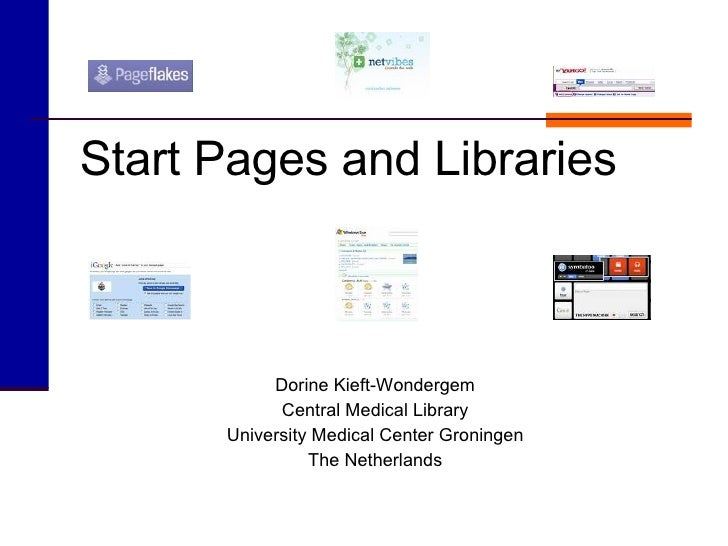 Start Pages And Libraries