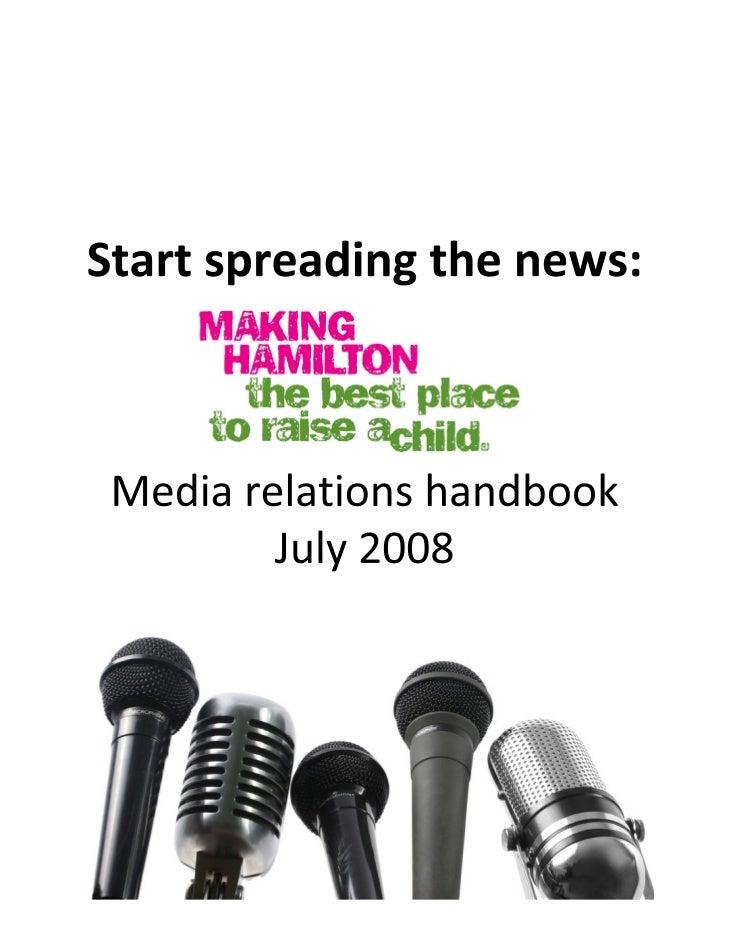 Media relations handbook for community groups