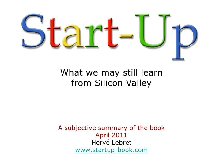 Start up-what-we-may-still-learn-from-silicon valley-lebret-short
