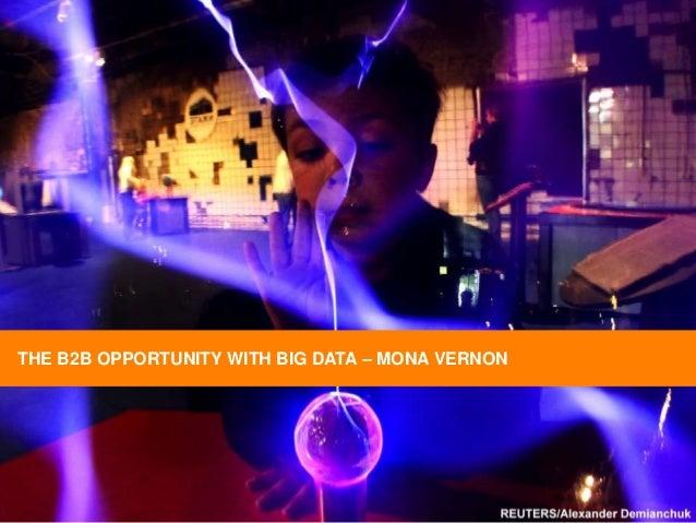 Mona Vernon - Using big data to crack B2B markets