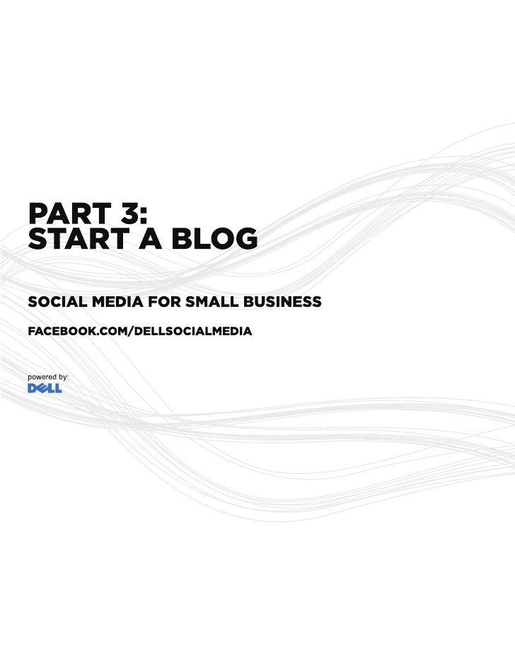 Start a Blog - Social Media Guide