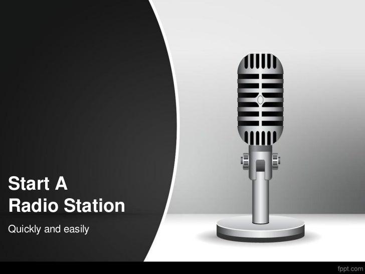 Start a radio station