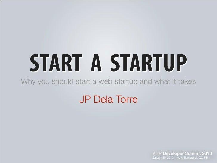 Start A Star Up J Dela Torre