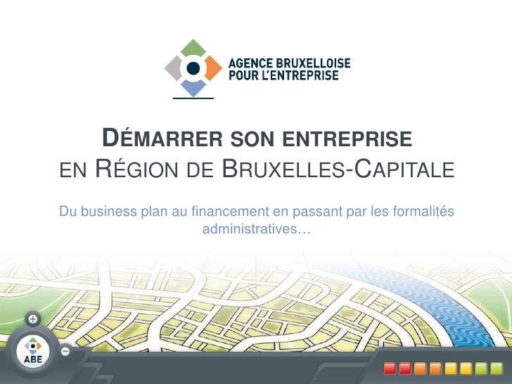 Démarrer son entreprise à Bruxelles - 2011