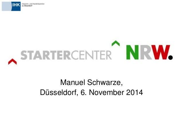 Manuel Schwarze,  Düsseldorf, 6. November 2014