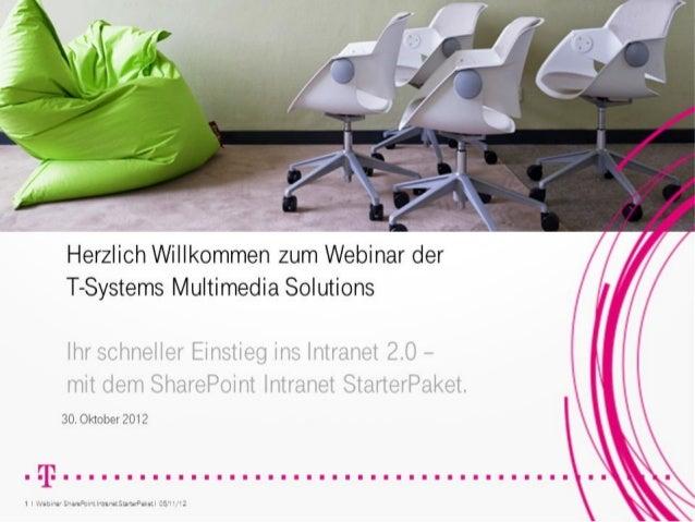 Ihr schneller Einstieg ins Intranet 2.0 - mit dem SharePoint Intranet StarterPaket.