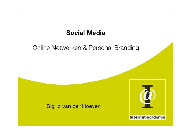 Social MediaSigrid van der Hoeven