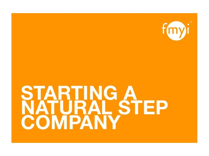 Starting A Natural Step Business