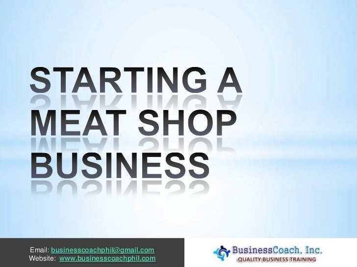 Starting a meat shop business