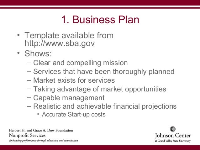 Business plan for nonprofit
