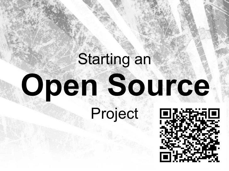 Starting An Open Source Project