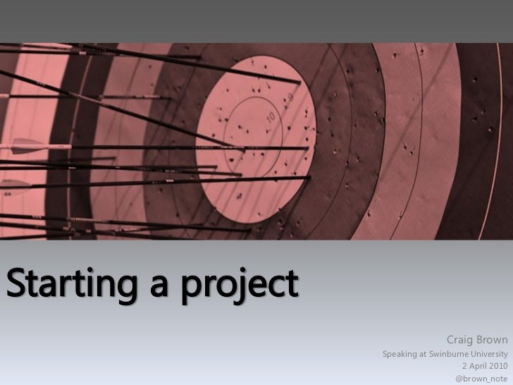 How to Start a Project