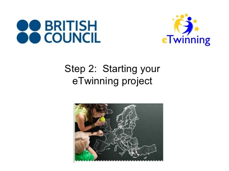 Step 2: Starting your eTwinning project