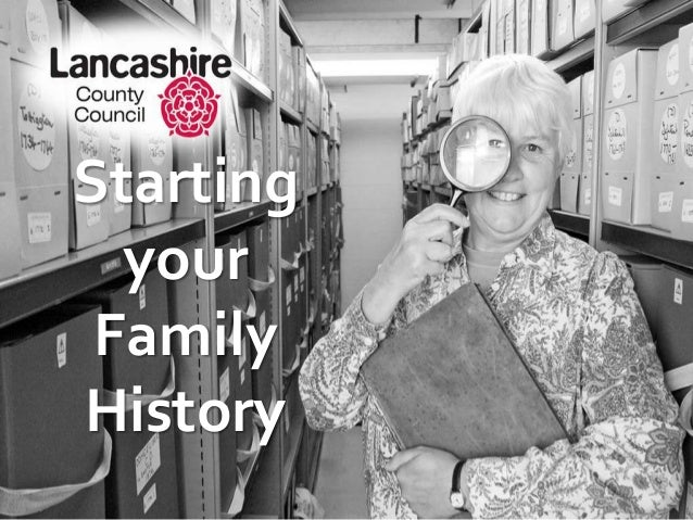 Starting your Family History