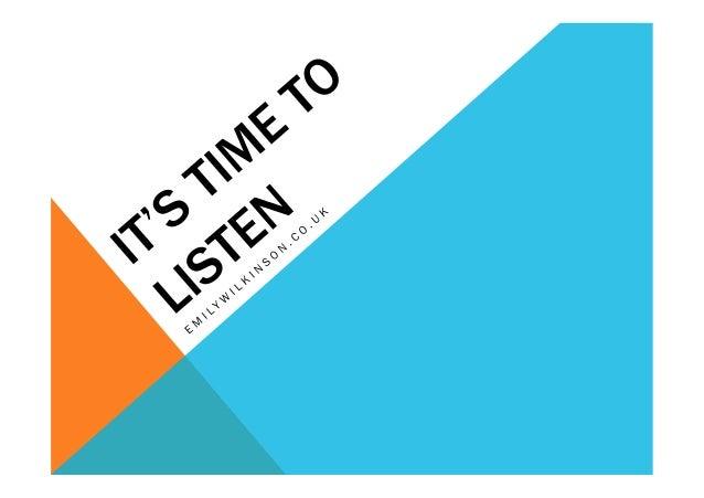 SME's Start Listening Now | 2012