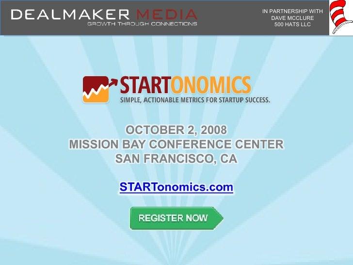 Startonomics: Simple, Actionable Metrics for Startup Success