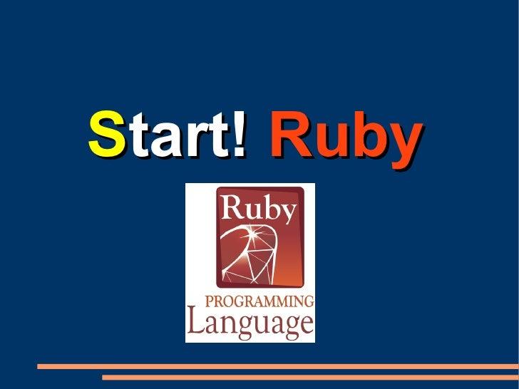 Start!! Ruby