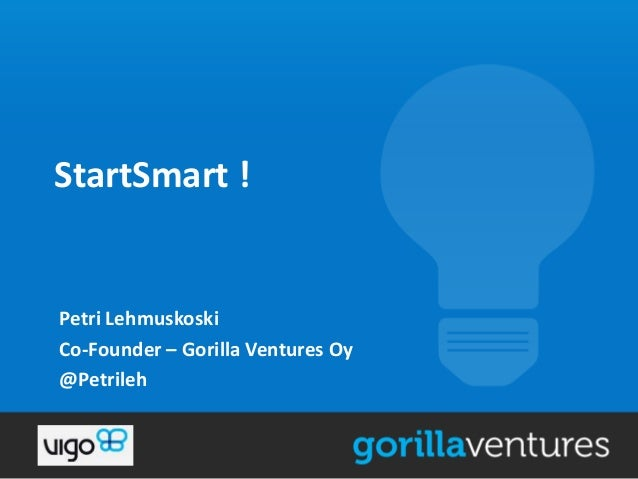 Startsmart Startup event presentation